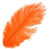 "Ostrich Drab Feathers 6-8"" Premium Quality Orange"